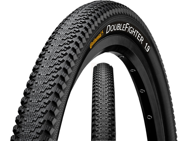 Continental Double Fighter III Clincher band 26 inch, draad, Reflex, black